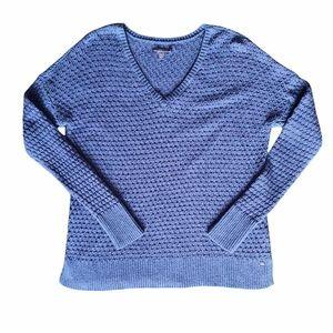 American Eagle V Neck Sweater Womens Medium Blue